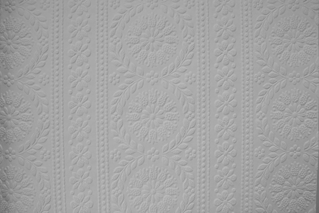 Floral Stripe Embossed Paintable
