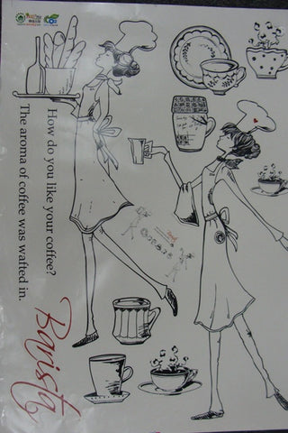Wall Decal Cafe Barista Kitchen