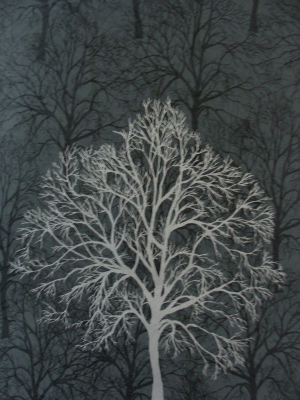 Black with Silver Trees Branches
