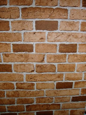 Orange Brown Brick Wallpaper
