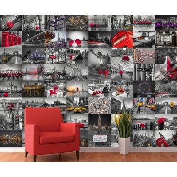 Cityscapes and famous Landmarks Wall Art Collage
