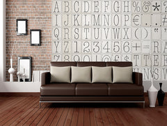 Creative Collage Typo 2 64 piece Wallpaper