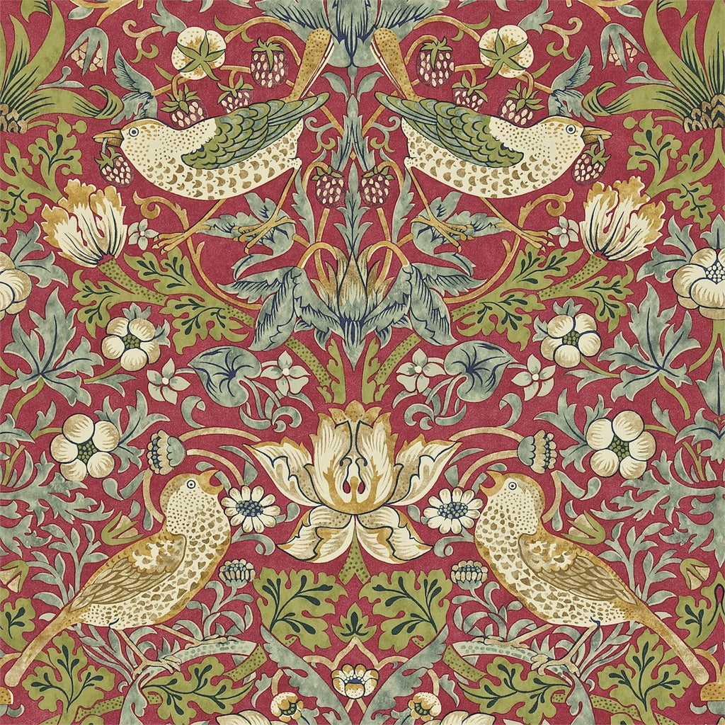 William Morris Co Traditional Wallpapers Strawberry Thief