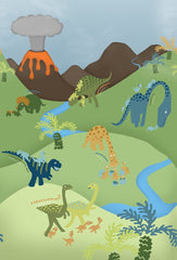 Childrens cartoon Dinosaur Mural
