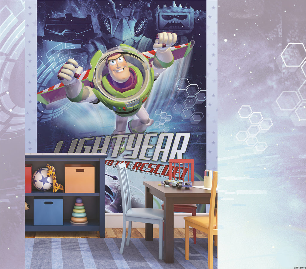 Disney buzz lightyear to the rescue toy story mural for Buzz lightyear wall mural