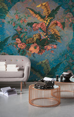 Orient Blue Wall Mural