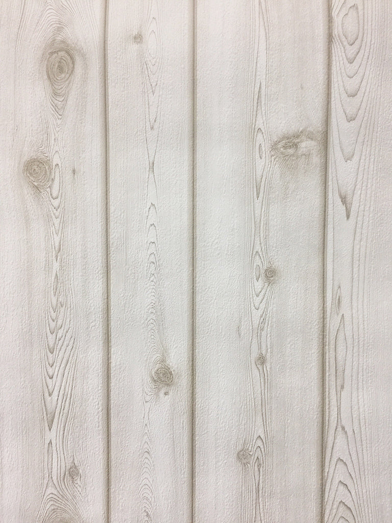 Cream Recycled Timber Texture Wallpaper