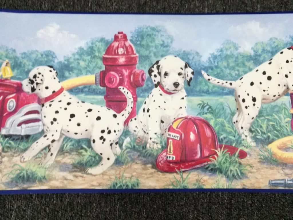 Puppy Dalmatians & Fire Trucks