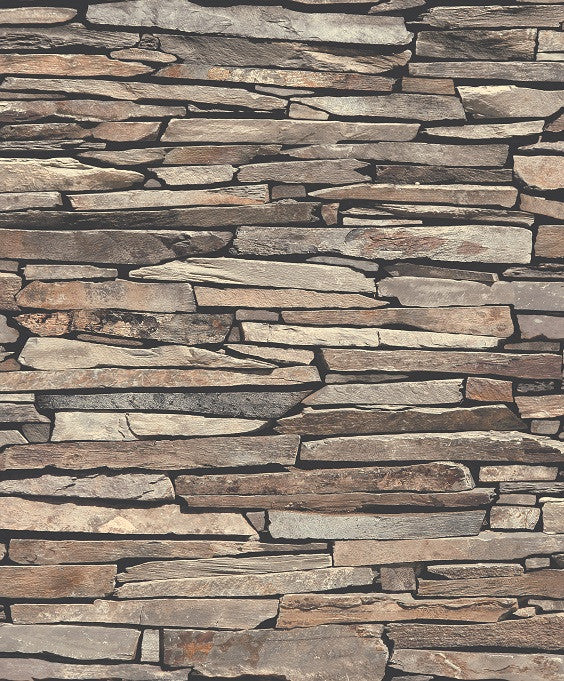Stackstone Stone Slat Cladding Wallpaper