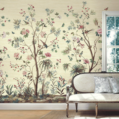 Chinoiserie Tree of Life Mural