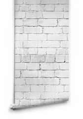 Rendered White Brick Wallpaper