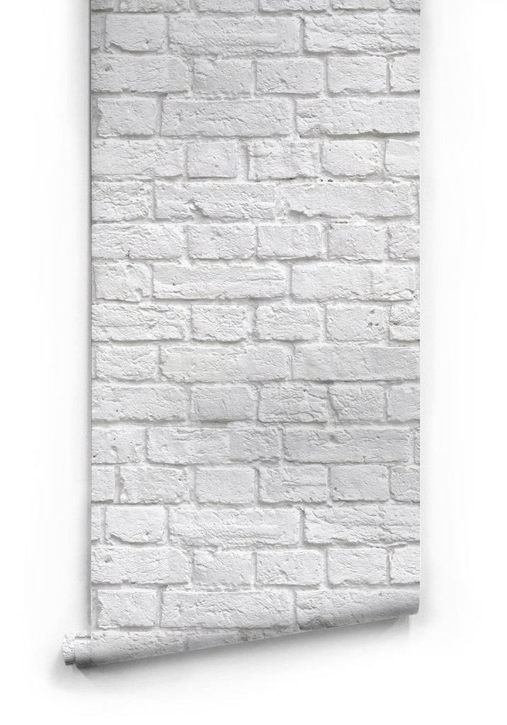 Soft White Brick Wallpaper