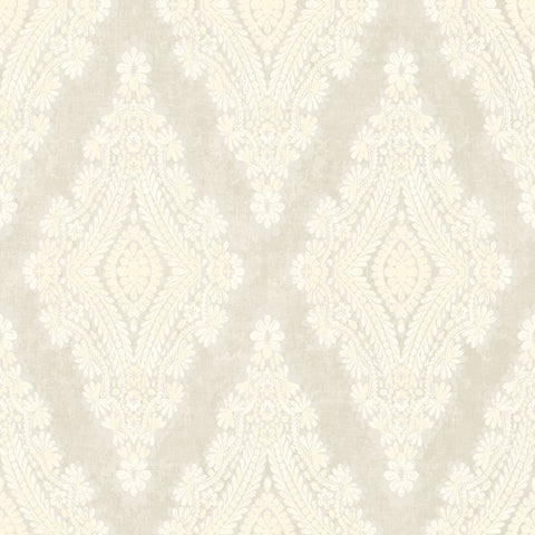 Boho Large Damask with Pearl Accents