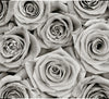 Black and White Rose Mural