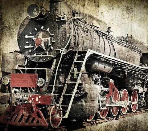 Vintage Steam locomotive Mural