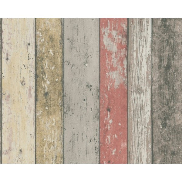 Multi Coloured Washed Timber