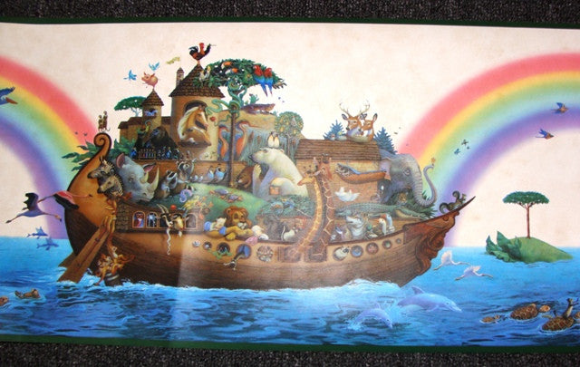 Noah's Ark Wallpaper Border