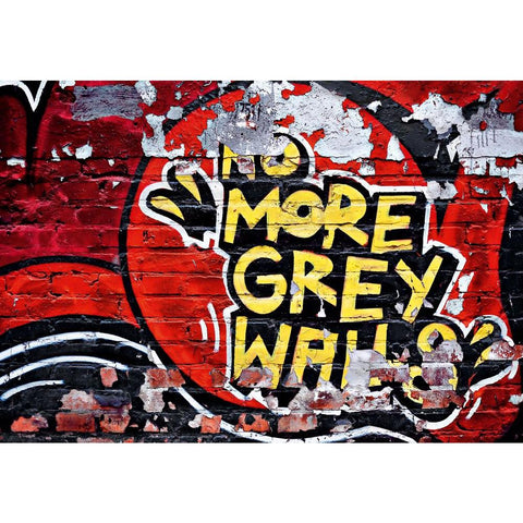 No More Grey Walls Graffiti