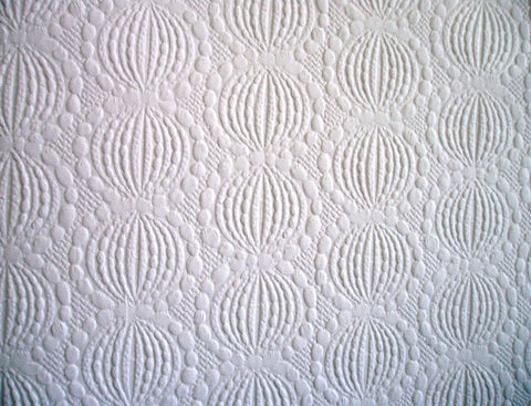 Embossed Circles Modern Paintable Wallpaper