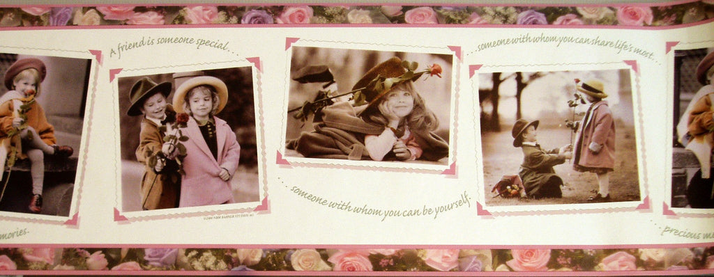Photos of Children Roses Green Border