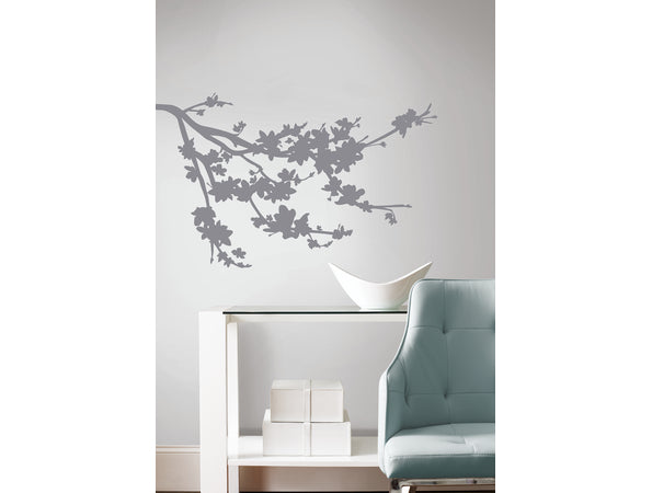 Grey Branch Silhouette Wall Sticker