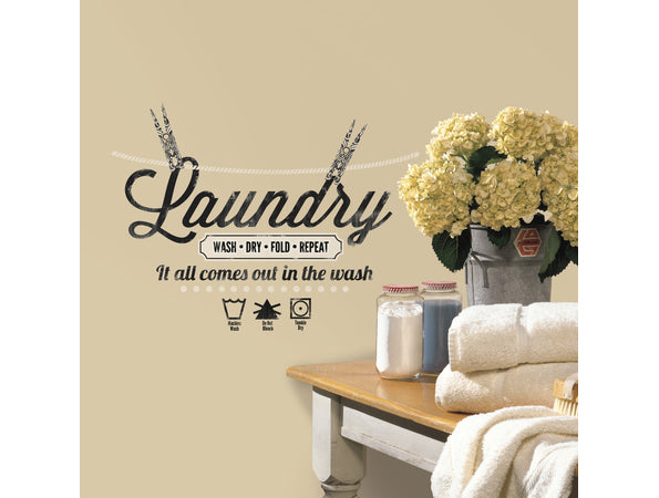 Laundry Quote Wall Sticker