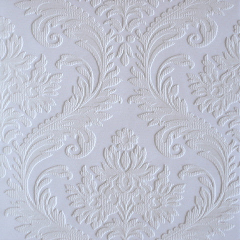 Large Damask Paintable