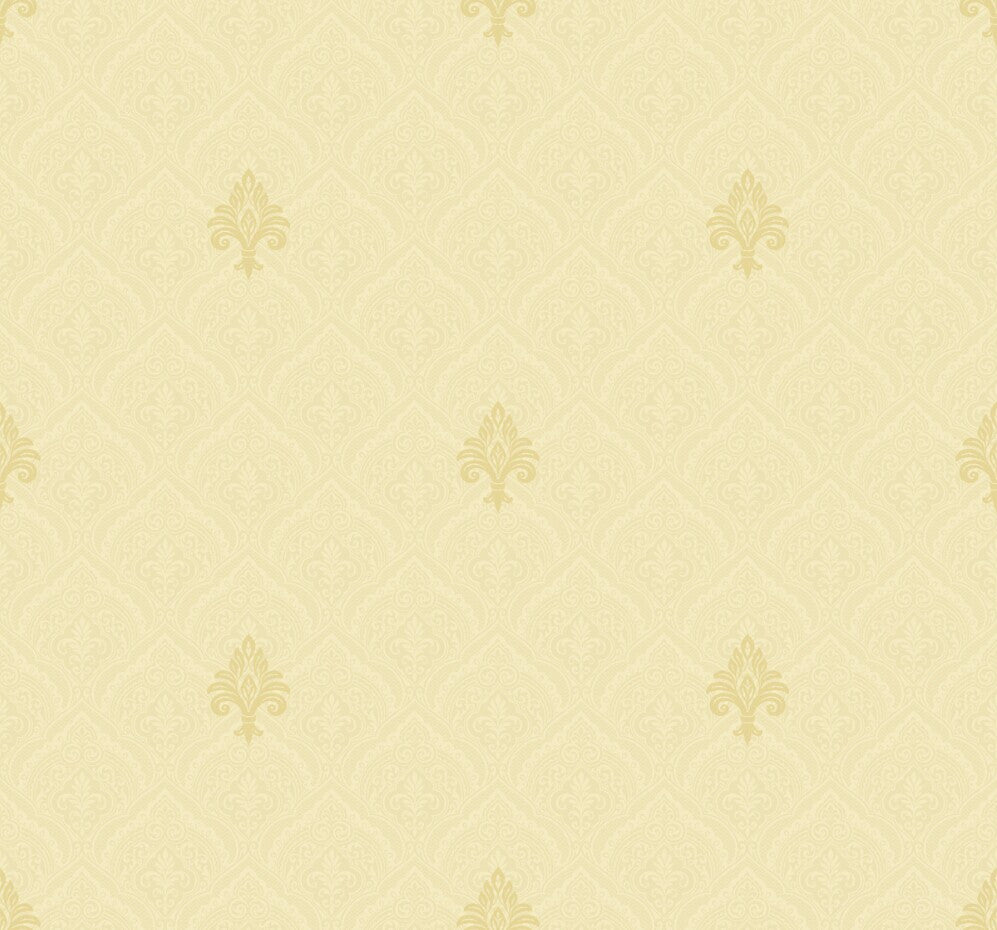 Simply Fleur De Lis Damask Wallpaper
