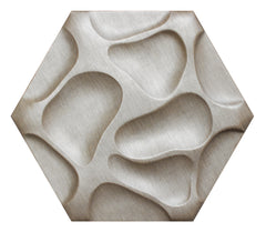 Honeycomb 3D Leather Panel