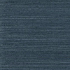 Dark Ocean Blue Grasscloth Seagrass Weave