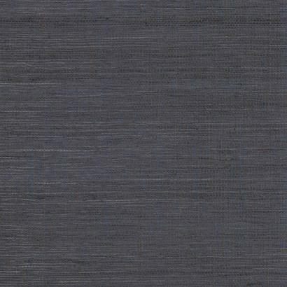 Navy Blue with Brown Grasscloth Seagrass Weave