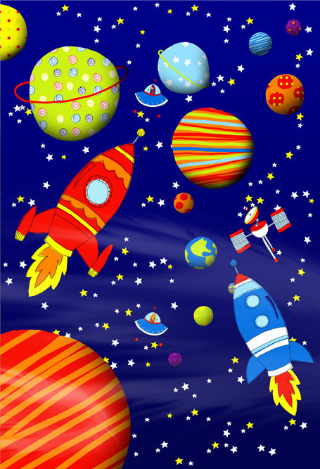Outerspace Wall Mural 2 Panels