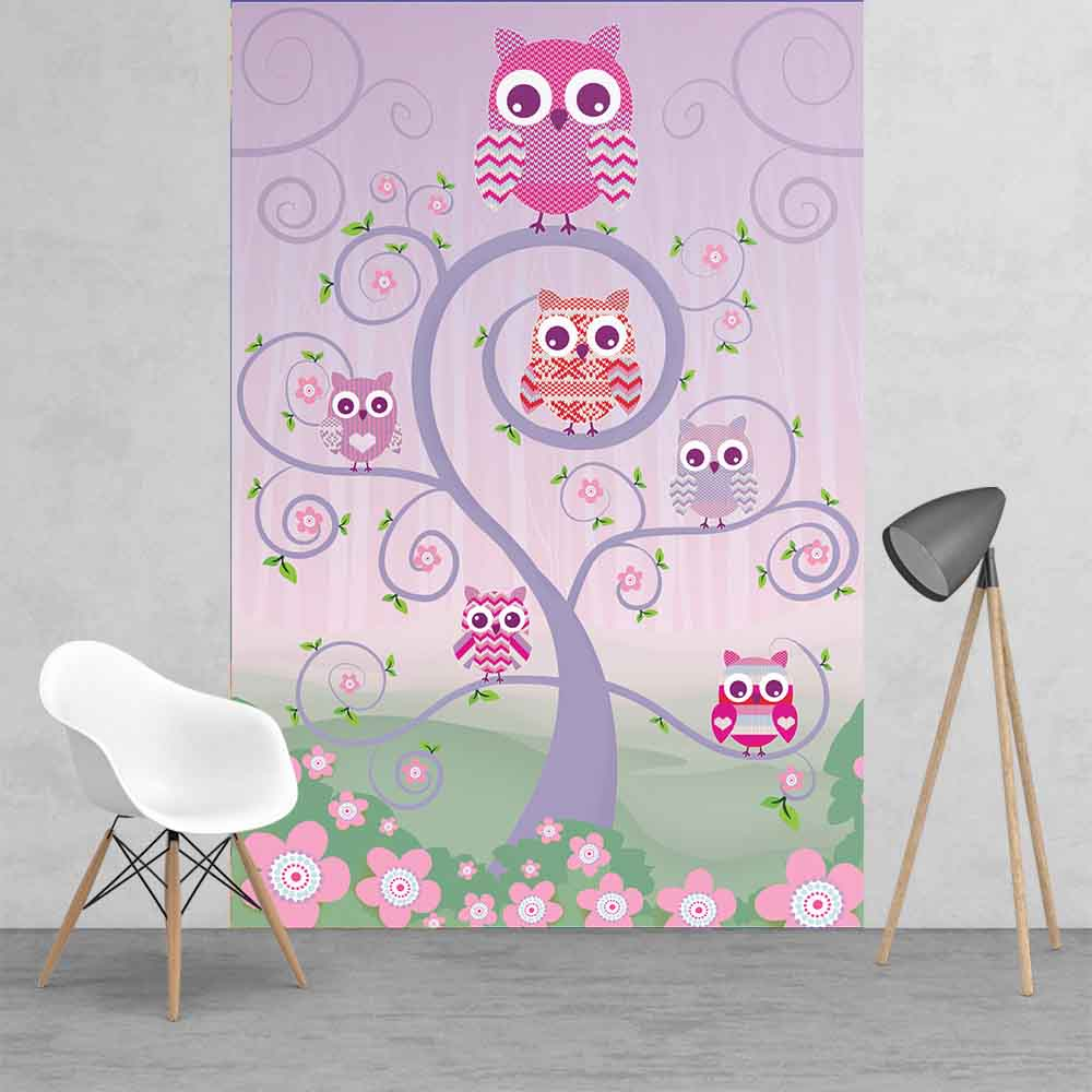 Owls Wall Mural 2 Panels