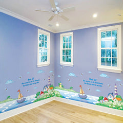 Boats and Houses Wall Sticker