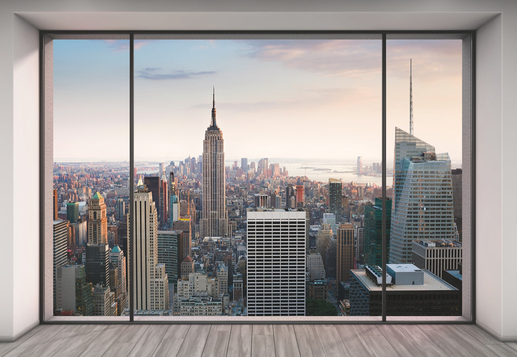 Penthouse Window Wall Mural