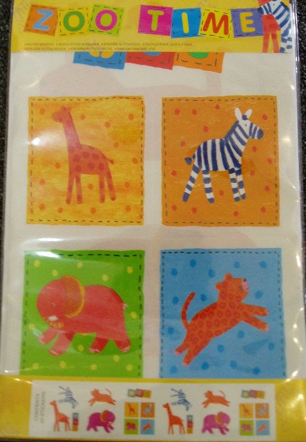 Zoo Time Safari Animal Stickers Pack