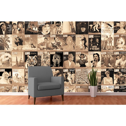life collage wall mural