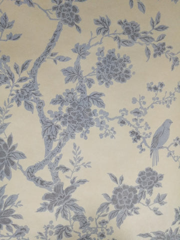 Chinoiserie Oriental Floral Birds Wallpaper