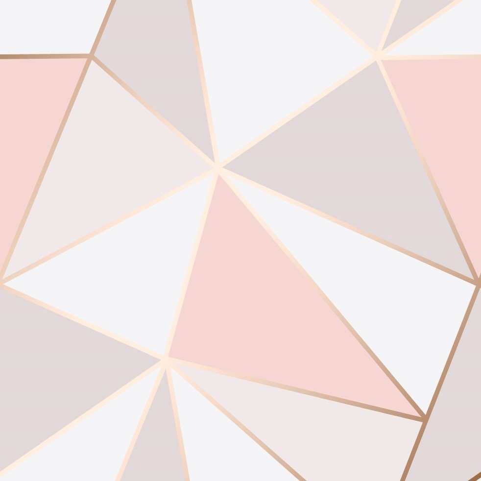 Pink Rose Gold Geometric