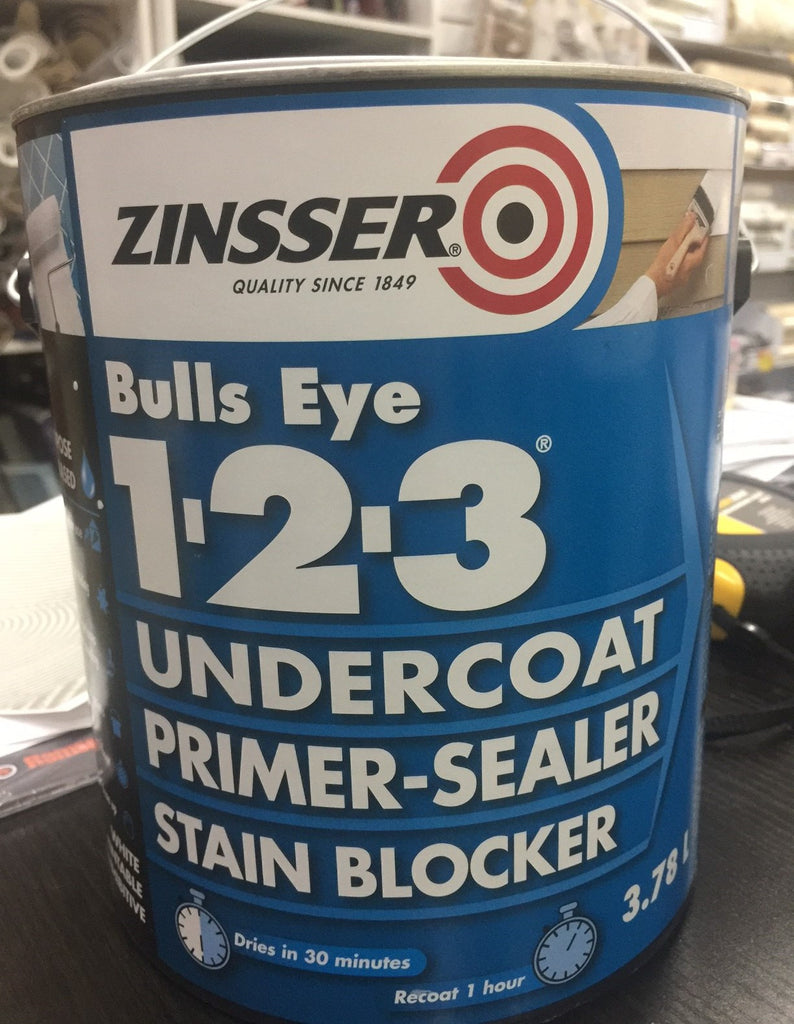 Zinsser Bulls Eye 123 Undercoat Primer-Sealer Stain Blocker 3.78 L