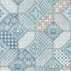 Textured Bohemian Tiles Wallpaper