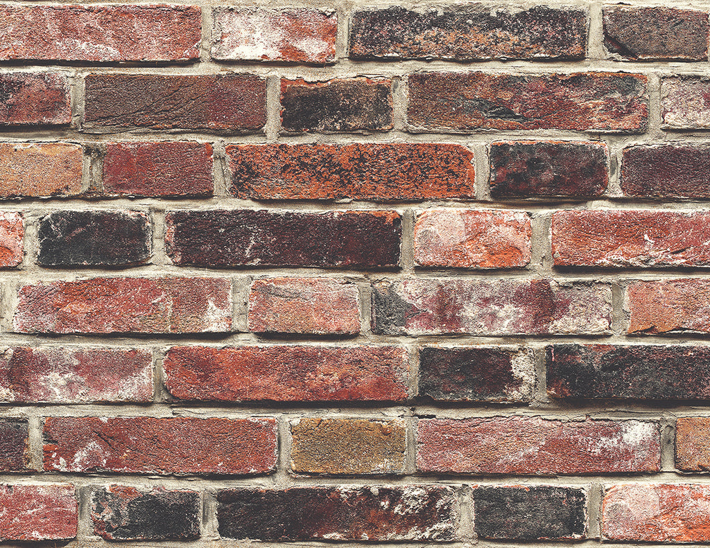 Bricks Dark Red Wallpaper
