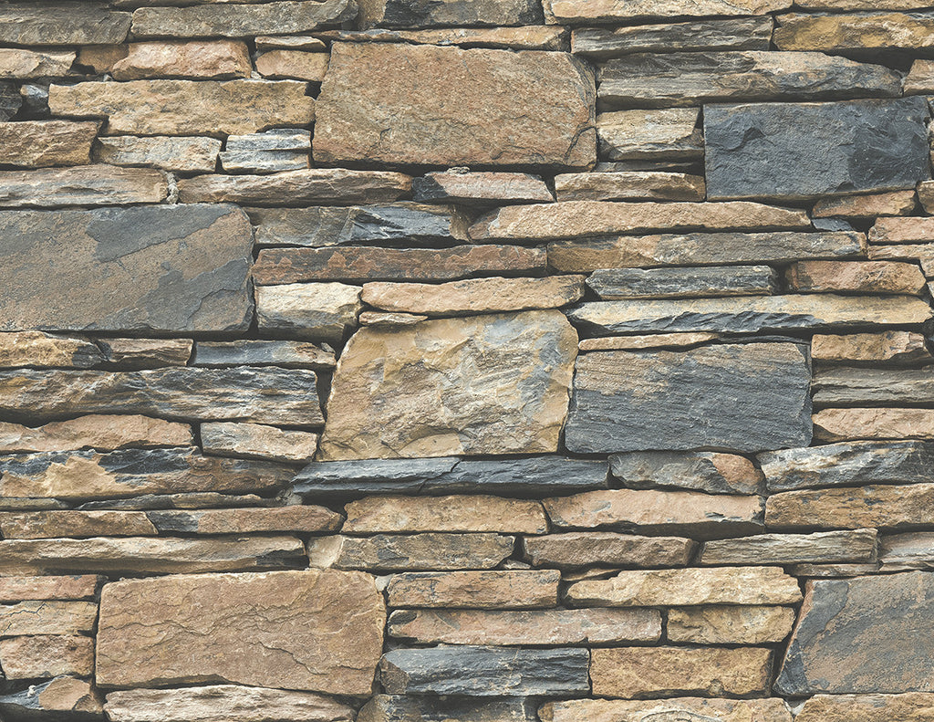 3D Stacked Uneven Rock Stack Stone Wallpaper