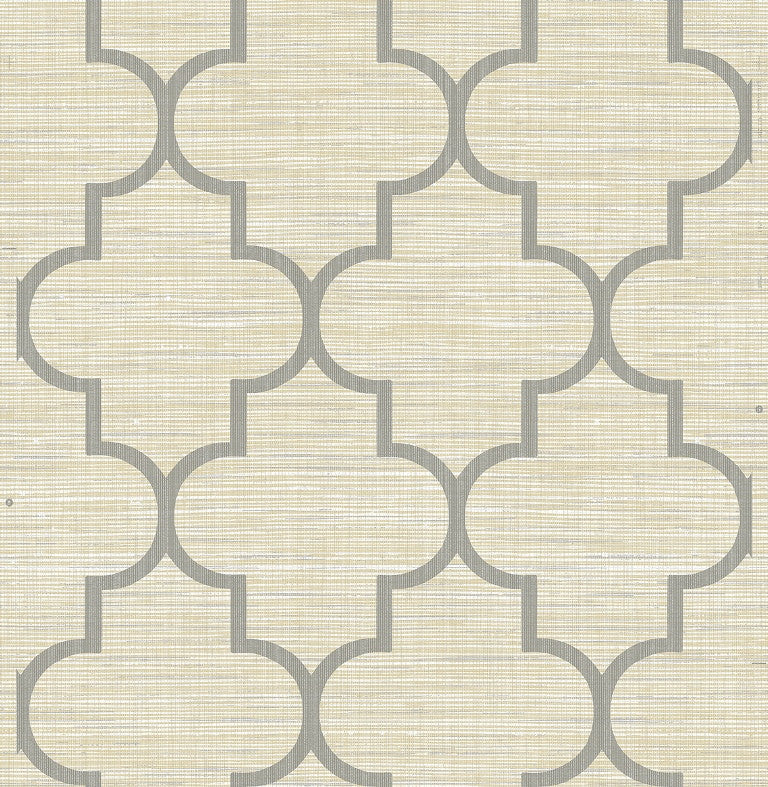 Grass Effects Faux Grasscloth Moroccan Lattice