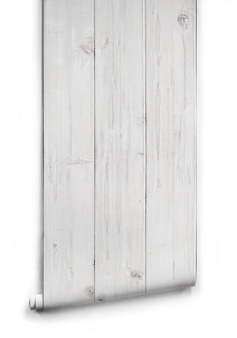 White Washed Timber Wallpaper