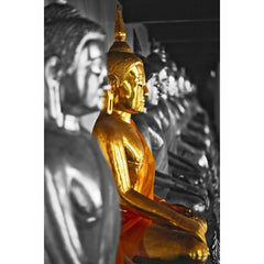 Gold Buddha Wallpaper poster Mural