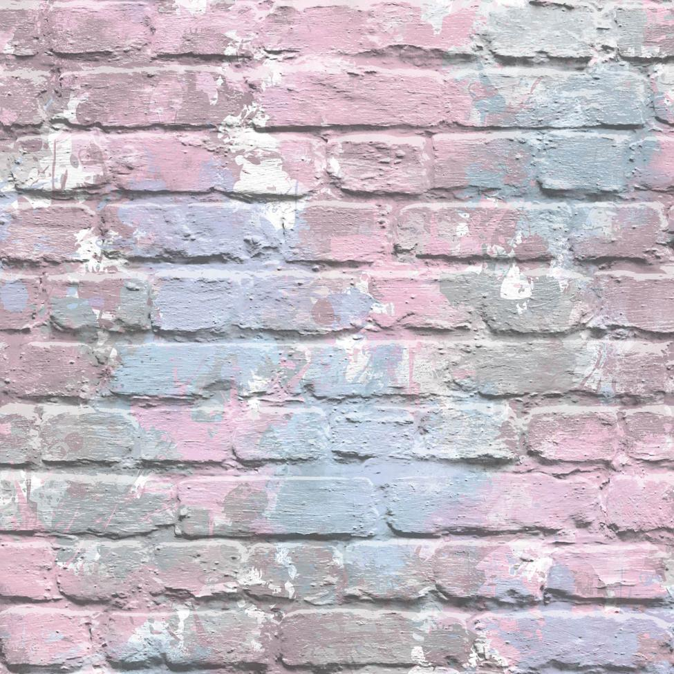 Pink Graffiti Brick