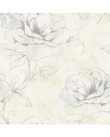 Contemporary Sketched Floral Flowers Wallpaper