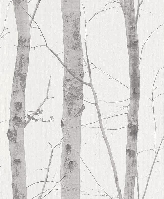 Birch Trees with Glitter