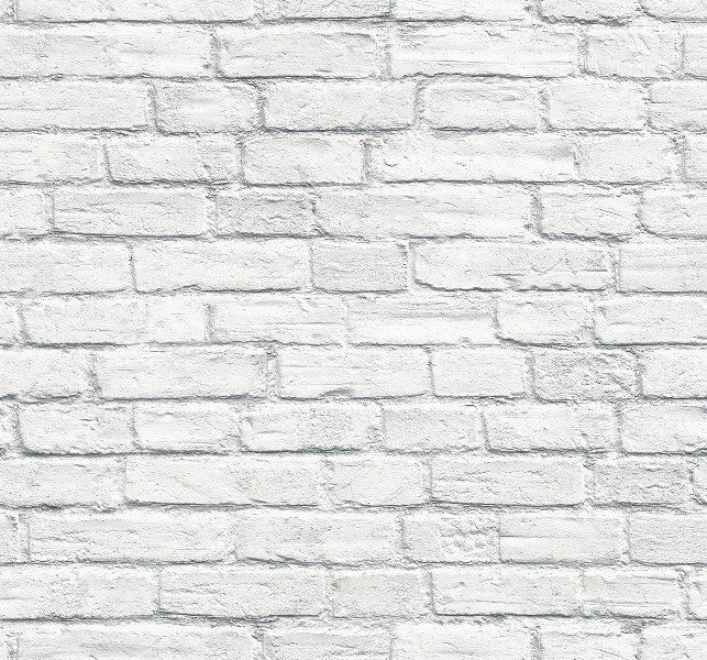 Rendered Grey White Brick Wallpaper 3d